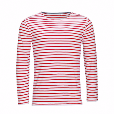01402 SOL'S Marine Long Sleeve Stripe T-Shirt